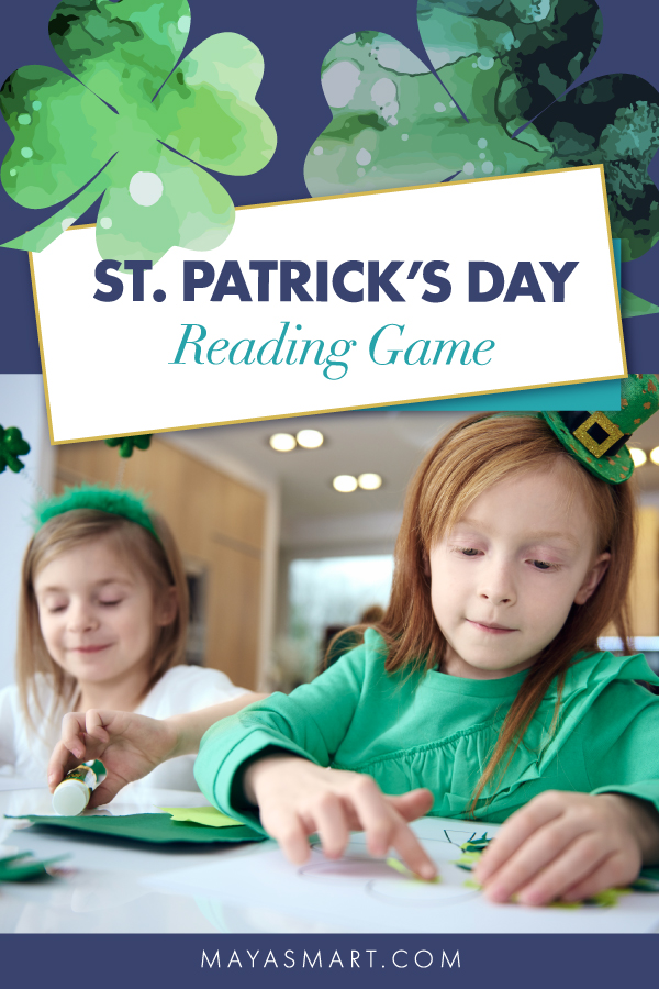 St. Patrick's Day reading game pin